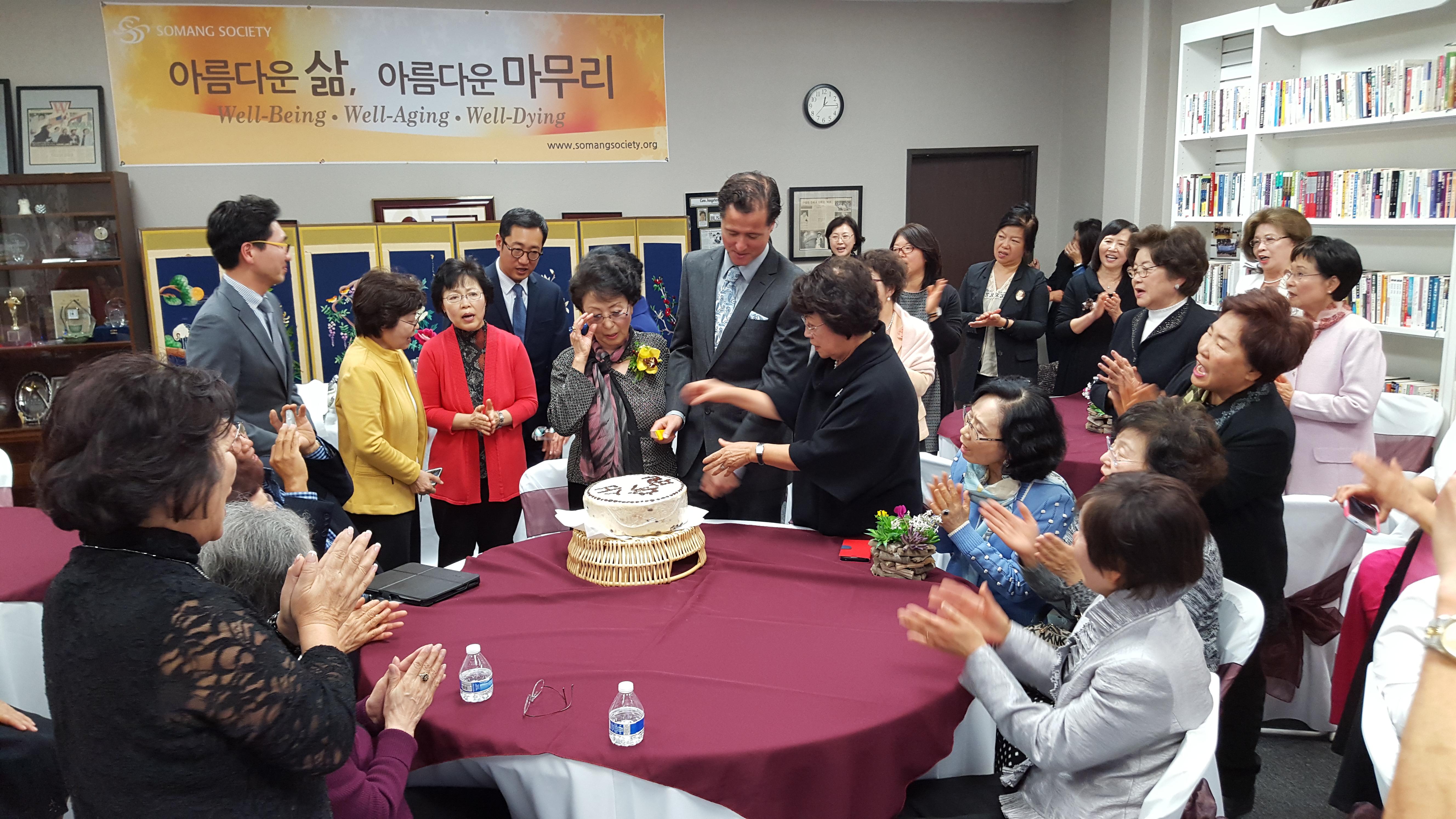 [모임] 평생회원 안정옥 권사님 80세 생신 축하모임